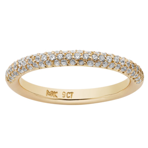Meadowlark Halo Pave Diamond Band - 9ct Yellow Gold - Walker & Hall