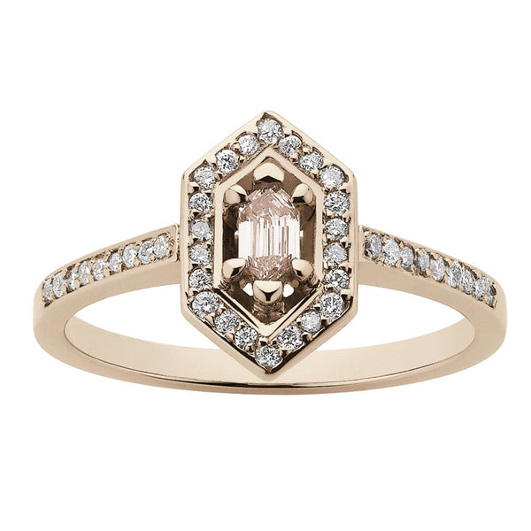 Meadowlark Sacred Engagement Ring - 9ct Rose Gold & Morganite - Walker & Hall