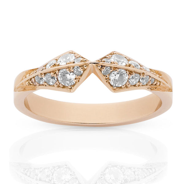 Meadowlark Inverted Star Ring - 9ct Rose Gold - Walker & Hall