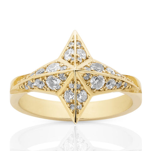 Meadowlark Star Ring - 9ct Yellow Gold - Walker & Hall