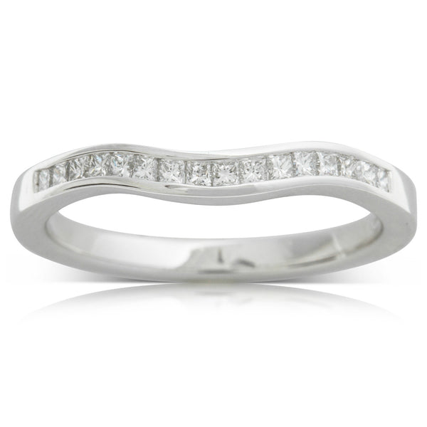 18ct White Gold .27ct Diamond Riviera Band