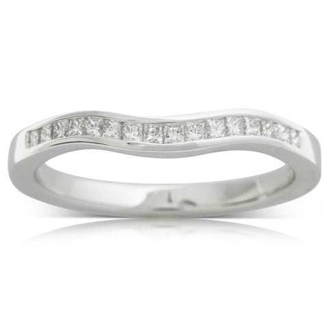 18ct White Gold .27ct Diamond Riviera Band - Walker & Hall