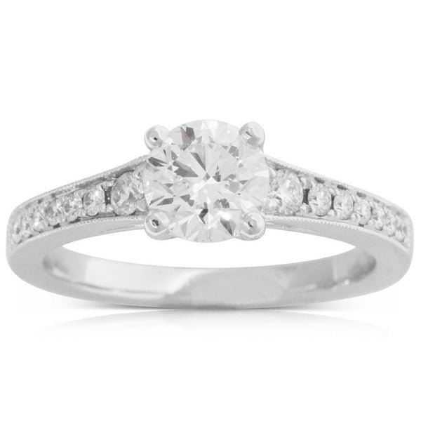 18ct White Gold 1.00ct Diamond Vantage Ring - Walker & Hall