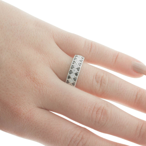 9ct White Gold Diamond Eternity Ring - Walker & Hall