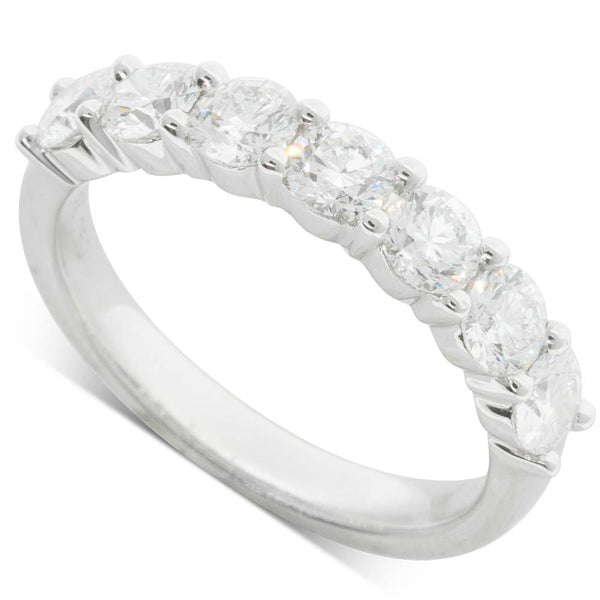 18ct White Gold 1.42ct Diamond Panorama Ring - Walker & Hall