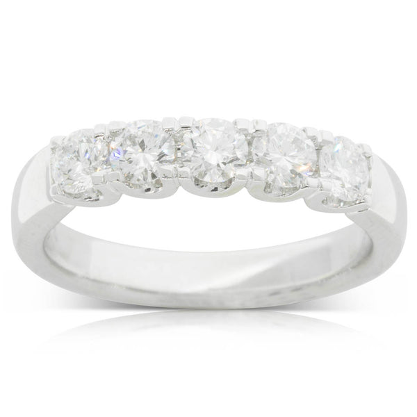 18ct White Gold .86ct Diamond Eternity Ring - Walker & Hall
