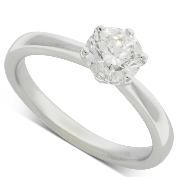 18ct White Gold 1.01ct Diamond Nova Ring - Walker & Hall