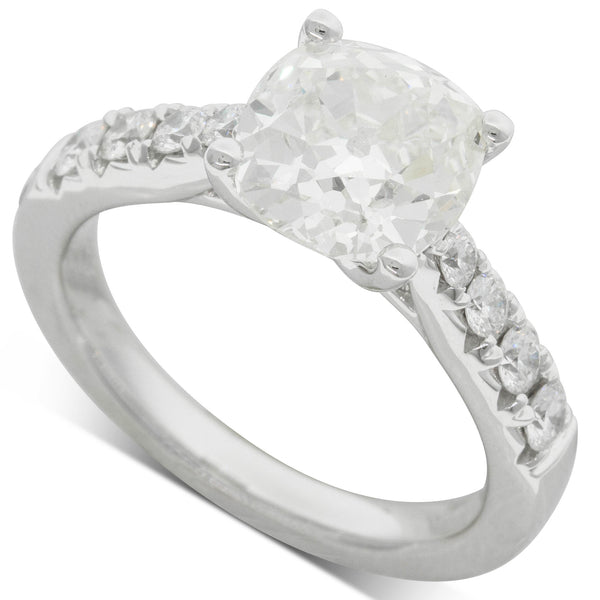 18ct White Gold 2.91ct Diamond Ring - Walker & Hall