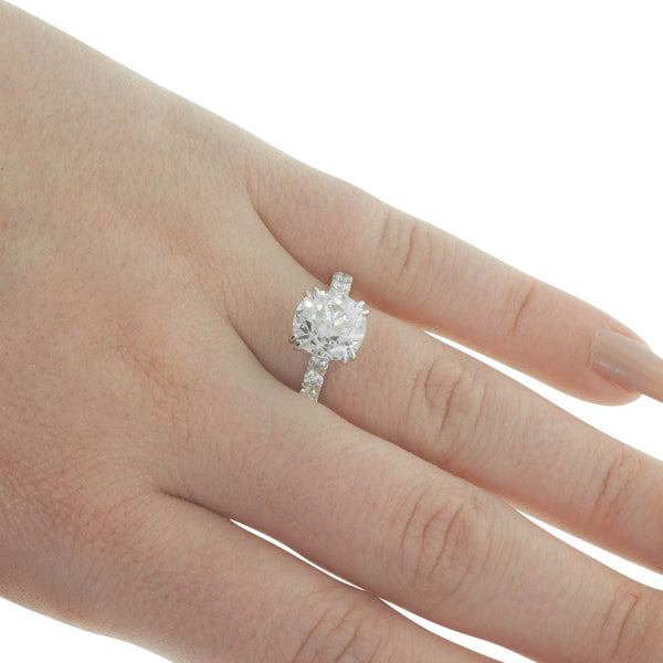 18ct White Gold 2.83ct Diamond Ring - Walker & Hall