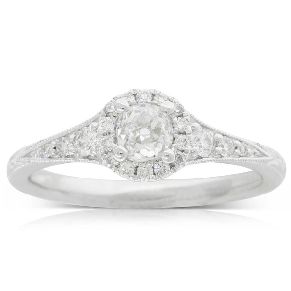 18ct White Gold .41ct Diamond Ring