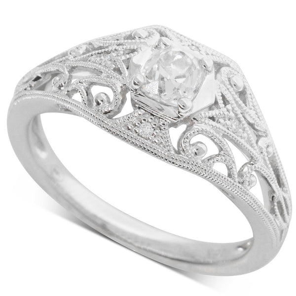 18ct White Gold .40ct Diamond Ring - Walker & Hall