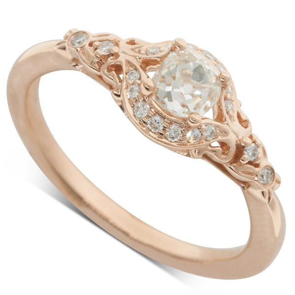 18ct Rose Gold .42ct Diamond Ring - Walker & Hall