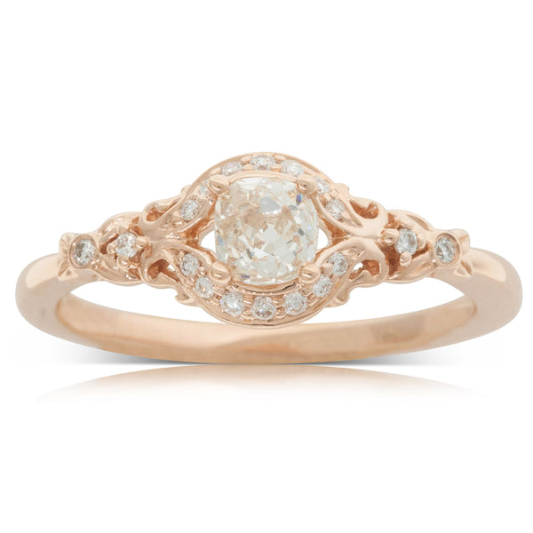 18ct Rose Gold .42ct Diamond Ring