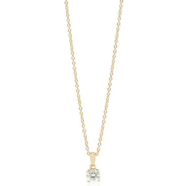 18ct Yellow Gold .51ct Diamond Blossom Pendant - Walker & Hall