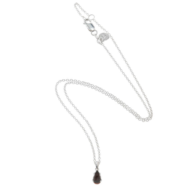 Stolen Girlfriends Club Single Tear Pendant - Garnet - Walker & Hall