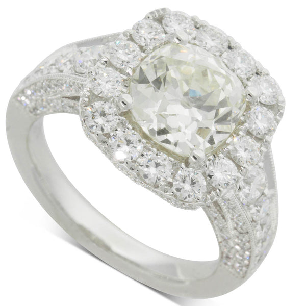 18ct White Gold 2.65ct Diamond Ring - Walker & Hall