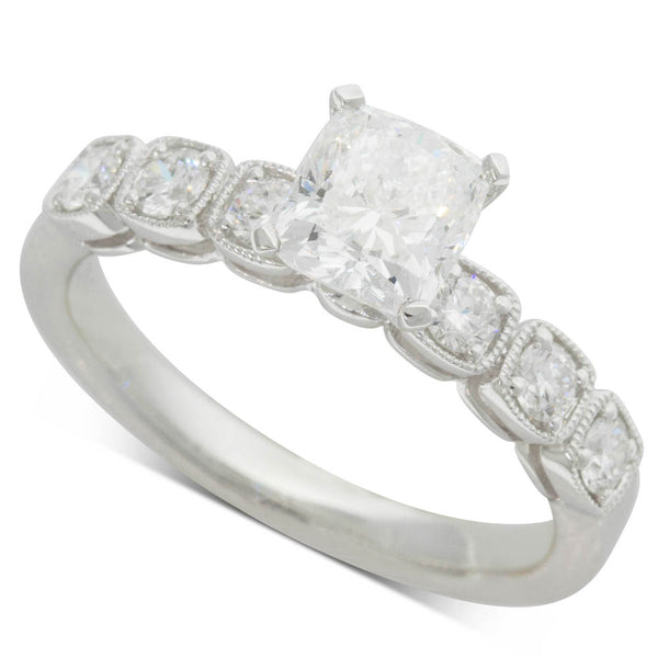18ct White Gold 1.03ct Diamond Ring - Walker & Hall