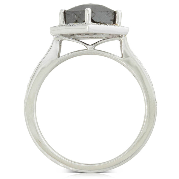 18ct White Gold 2.26ct Diamond Halo Ring - Walker & Hall