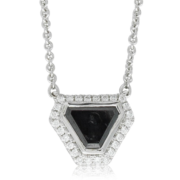 18ct White Gold 1.09ct Diamond Halo Necklace