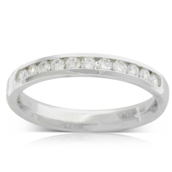 9ct White Gold .33ct Diamond Ring