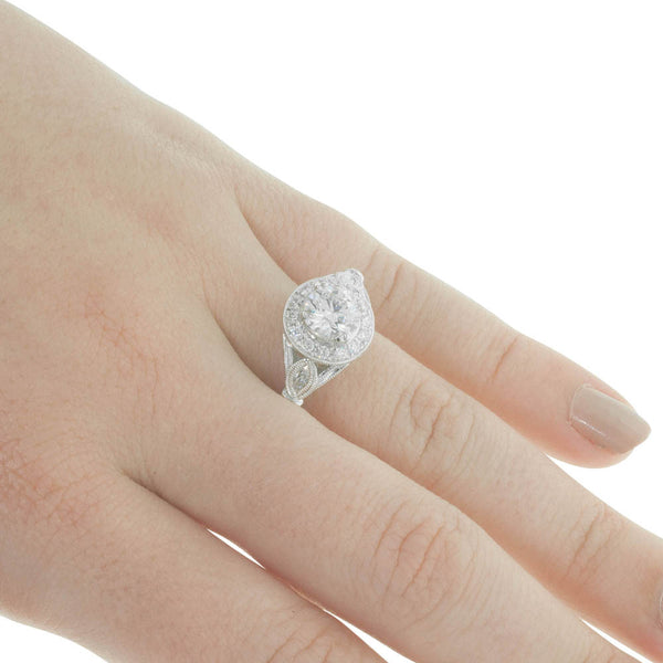 18ct White Gold 1.00ct Diamond Ring - Walker & Hall