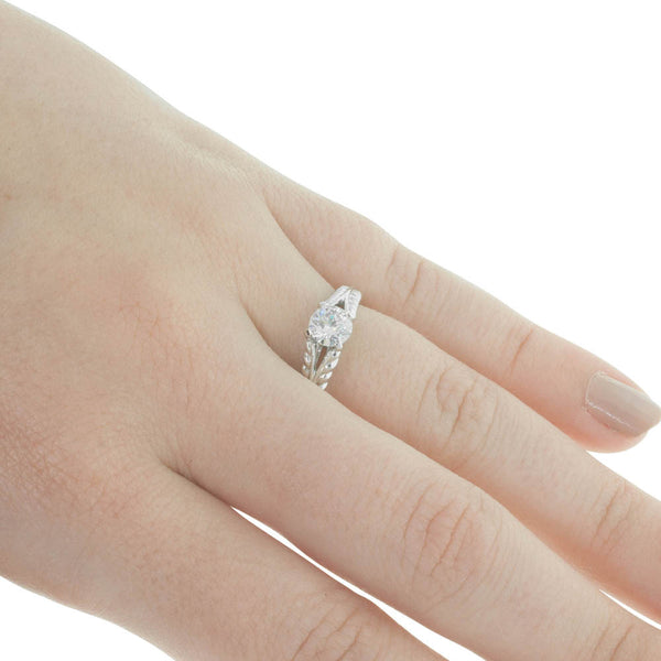18ct White Gold .50ct Diamond Solitaire Ring - Walker & Hall
