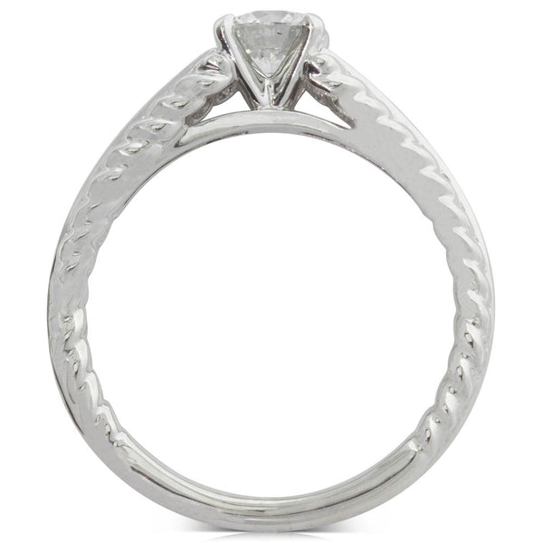18ct White Gold .50ct Diamond Solitaire Ring
