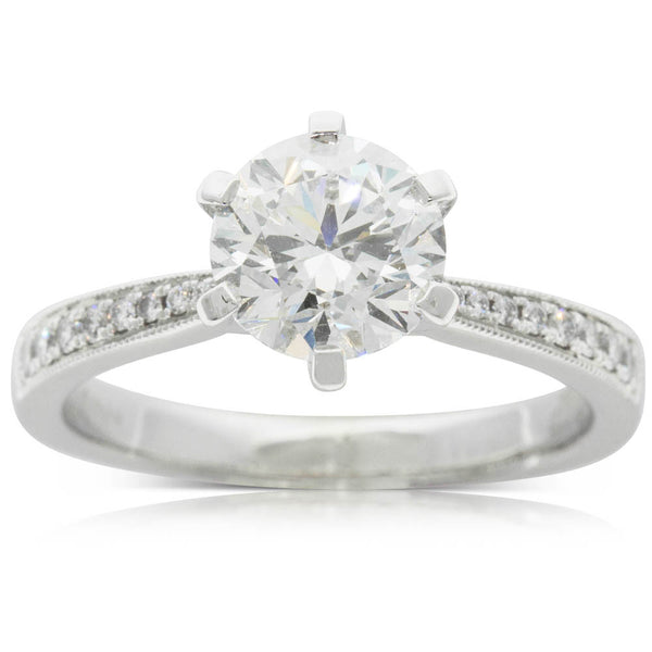 18ct White Gold 1.60ct Diamond Zenith Ring - Walker & Hall