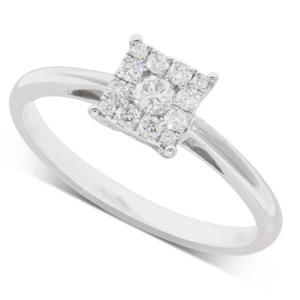 9ct White Gold .23ct Diamond Ring - Walker & Hall