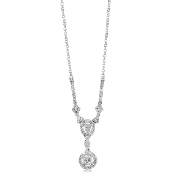 18ct White Gold 1.18ct Diamond Pendant - Walker & Hall