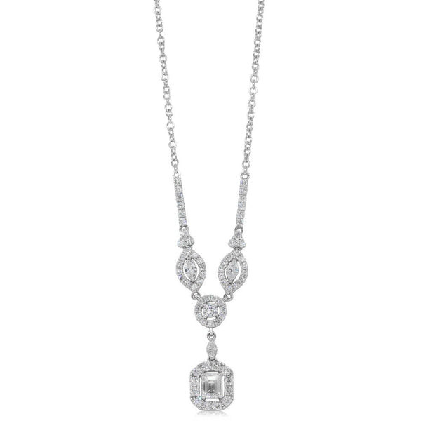 18ct White Gold 1.25ct Diamond Pendant - Walker & Hall