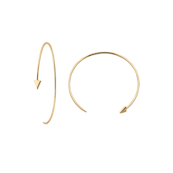 Karen Walker Kinetic Hoop Earrings - 9ct Yellow Gold - Walker & Hall