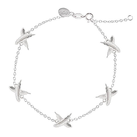 Boh Runga Mini Feather Kisses Bracelet - Sterling Silver - Walker & Hall