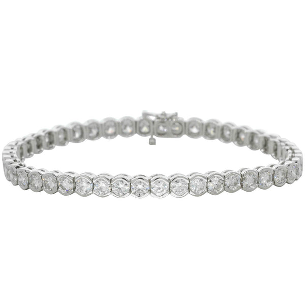 18ct White Gold 8.63ct Diamond Bracelet - Walker & Hall