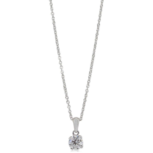 18ct White Gold .46ct Diamond Blossom Pendant - Walker & Hall