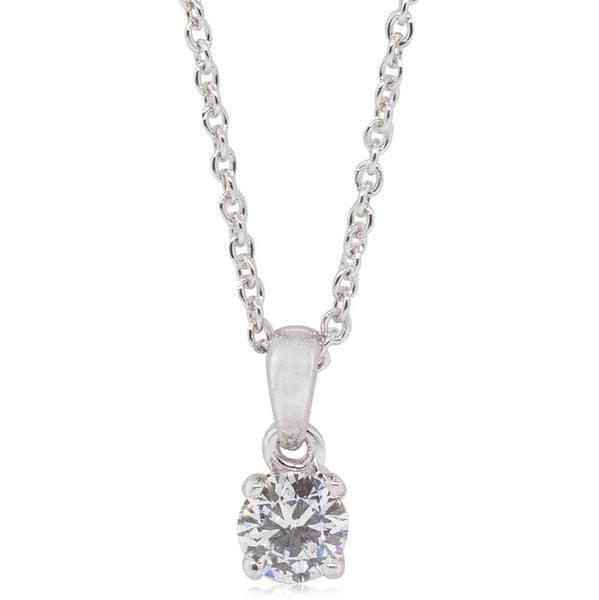 18ct White Gold .33ct Diamond Blossom Pendant - Walker & Hall