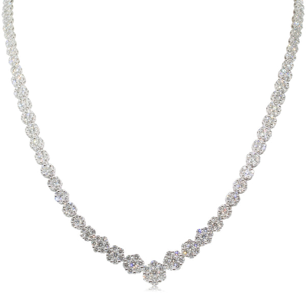 18ct White Gold 12.54ct Diamond Necklace - Walker & Hall