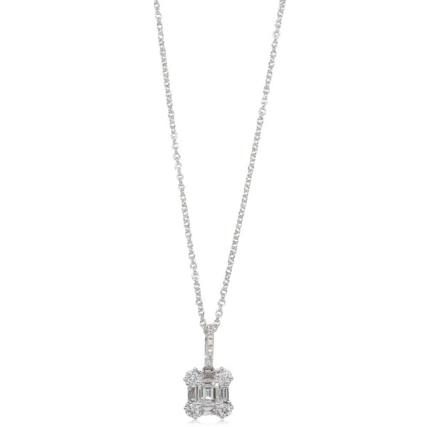 18ct White Gold .54ct Diamond Pendant