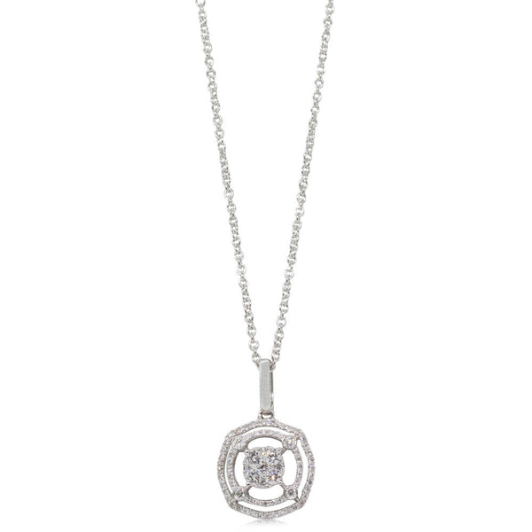 18ct White Gold .28ct Diamond Pendant - Walker & Hall