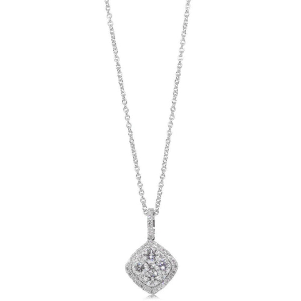 18ct White Gold .75ct Diamond Pendant - Walker & Hall