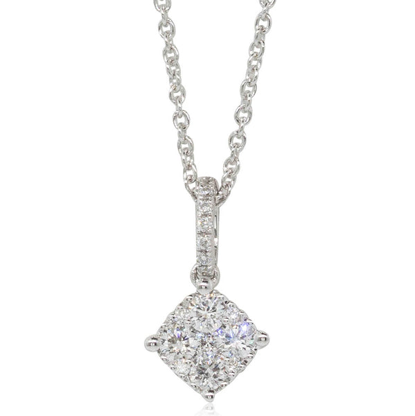 18ct White Gold .30ct Diamond Pendant - Walker & Hall