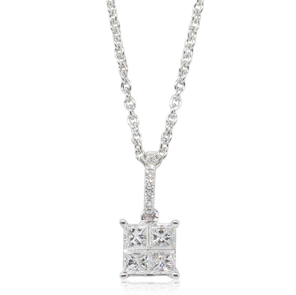 18ct White Gold .30ct Diamond Pendant