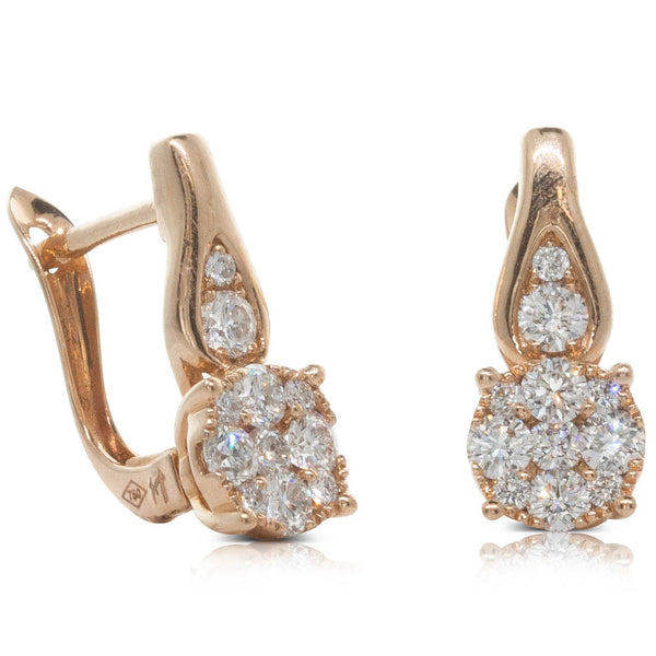18ct Rose Gold .63ct Diamond Earrings