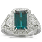 18ct White Gold Tourmaline & Diamond Ring - Walker & Hall