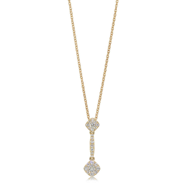 18ct Yellow Gold .34ct Diamond Drop Pendant