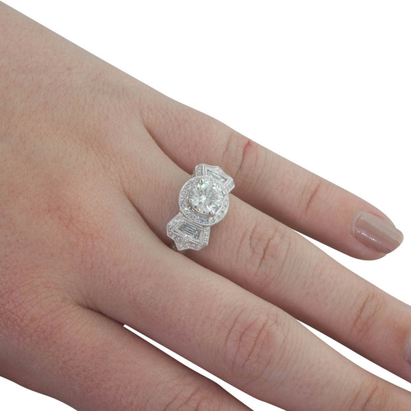 18ct White Gold 1.01ct Diamond Ring