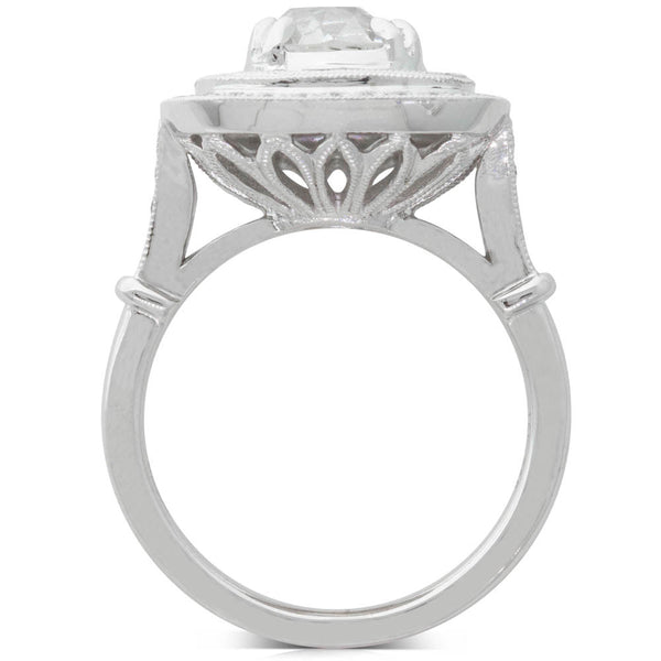 18ct White Gold 1.94ct Diamond Halo Ring - Walker & Hall