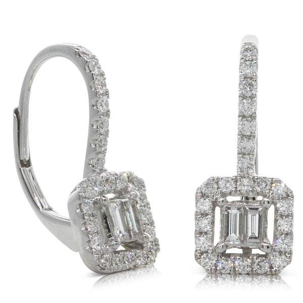 18ct White Gold .52ct Diamond Earrings - Walker & Hall