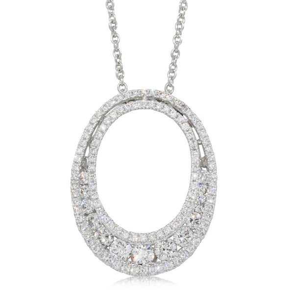18ct White Gold .83ct Diamond Pendant - Walker & Hall