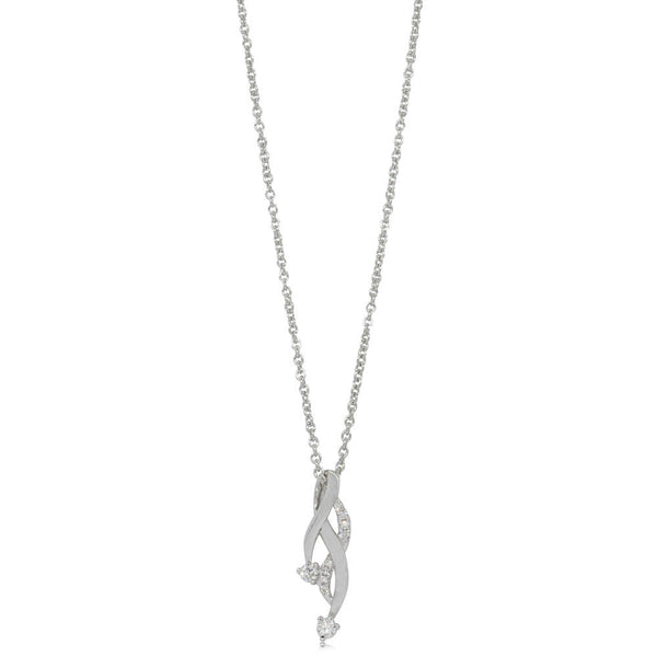 18ct White Gold .10ct Diamond Pendant